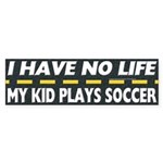 My Kid Plays Soccer Bumper Sticker