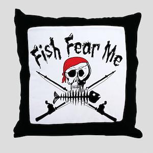 Fish Fear Me Throw Pillow