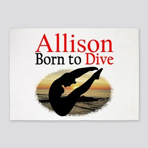 PERSONALIZE DIVER 5'x7'Area Rug