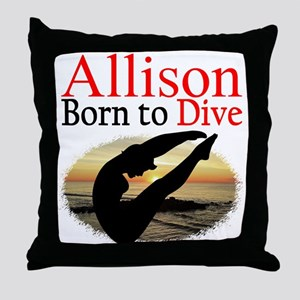 PERSONALIZE DIVER Throw Pillow