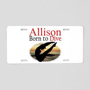 PERSONALIZE DIVER Aluminum License Plate
