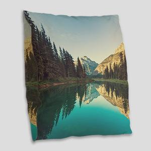 Glacier National Park Burlap Throw Pillow