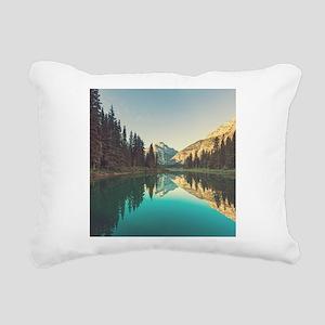 Glacier National Park Rectangular Canvas Pillow
