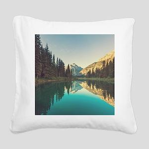 Glacier National Park Square Canvas Pillow