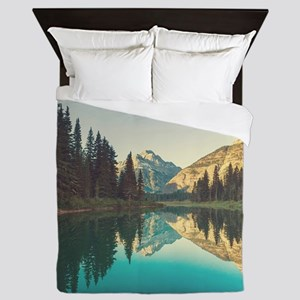 Glacier National Park Queen Duvet