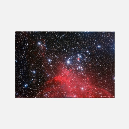 Red nebula Rectangle Magnet