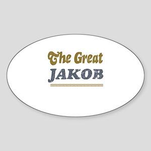 Jakob Oval Sticker