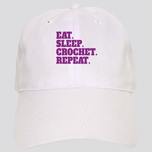 Eat. Sleep. Crochet. Repeat. Cap