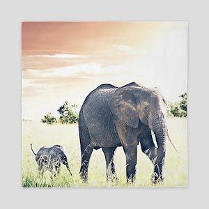 Elephants Queen Duvet