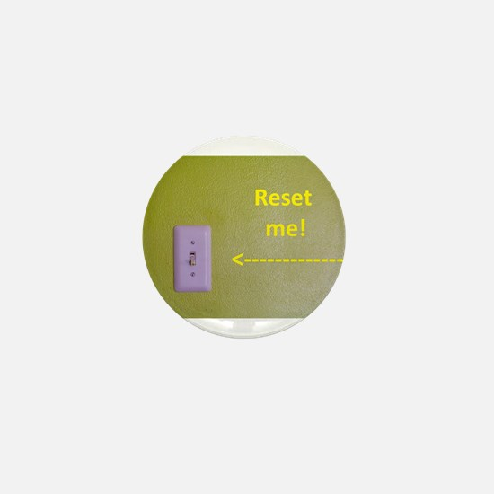 Reset me! with arrow to the switch Mini Button