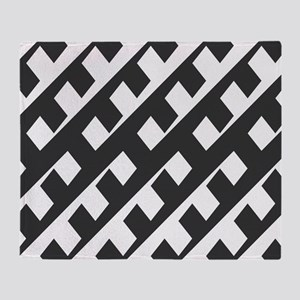 Black and White Pattern Throw Blanket
