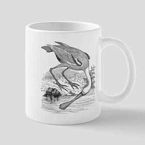 Vintage Spoonbill Tropical Bird Black White Mugs