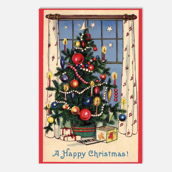 A Happy Christmas Postcards (Package of 8)
