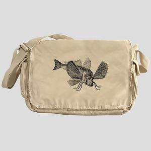 Vintage Sapphirine Gurnard Fish Blac Messenger Bag