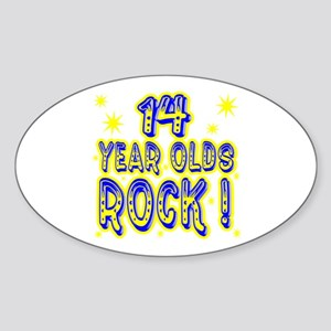 14 Year Olds Rock ! Oval Sticker