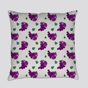 Purple Grapes Everyday Pillow