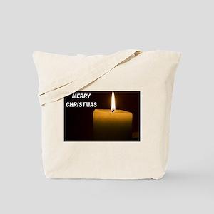 Tote Bag MERRY CHRISTMAS CANDLE