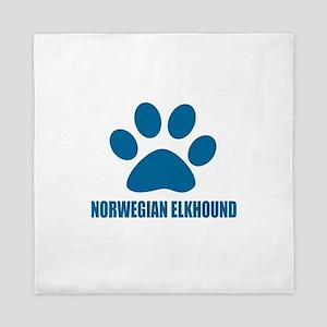 Norwegian Elkhound Dog Designs Queen Duvet