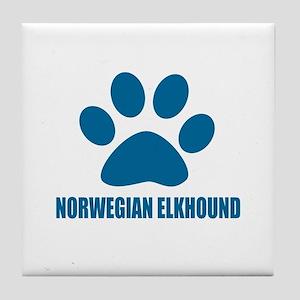 Norwegian Elkhound Dog Designs Tile Coaster