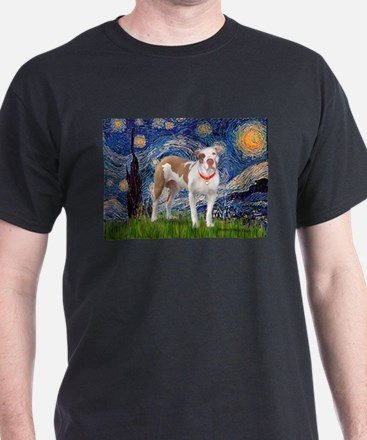 Starry Night Pitbull T-Shirt