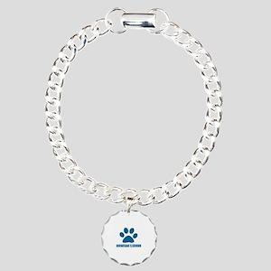 Norwegian Elkhound Dog D Charm Bracelet, One Charm