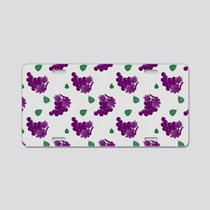 Purple Grapes Aluminum License Plate