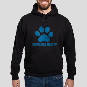 Neapolitan Mastiff Dog Designs Hoodie (dark)
