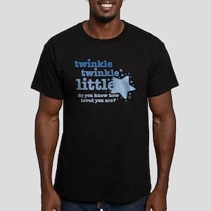 Twinkle Twinkle Blue Men's Fitted T-Shirt (dar