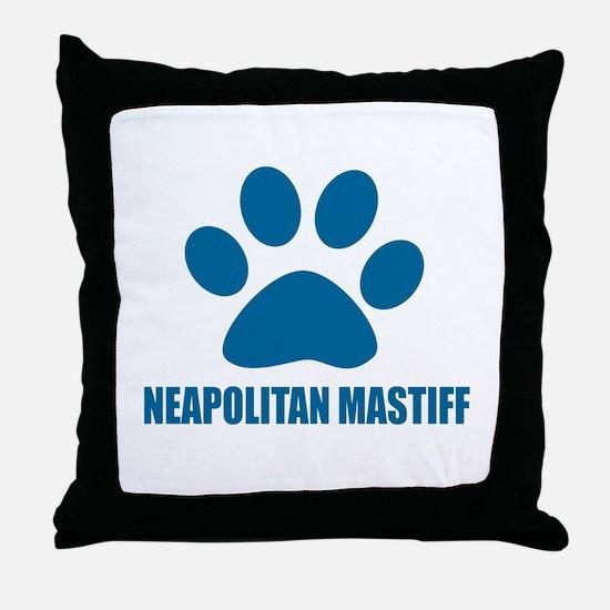 Neapolitan Mastiff Dog Designs Throw Pillow