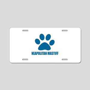 Neapolitan Mastiff Dog Desi Aluminum License Plate