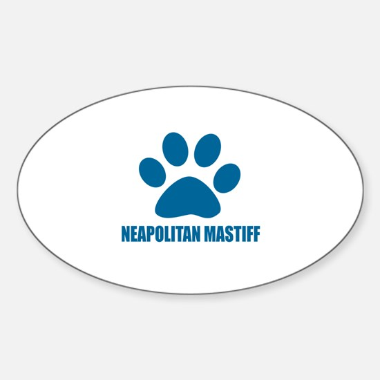 Neapolitan Mastiff Dog Designs Sticker (Oval)