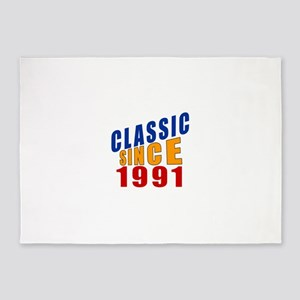 Classic Since 1991 5'x7'Area Rug