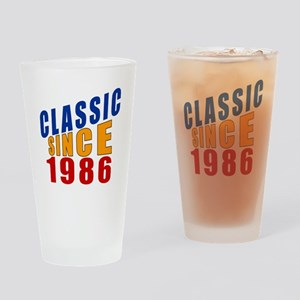 Classic Since 1986 Drinking Glass