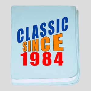 Classic Since 1984 baby blanket