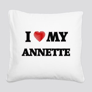 I love my Annette Square Canvas Pillow