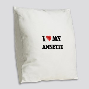 I love my Annette Burlap Throw Pillow