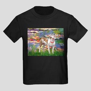 Lilies & Pitbull Kids Dark T-Shirt