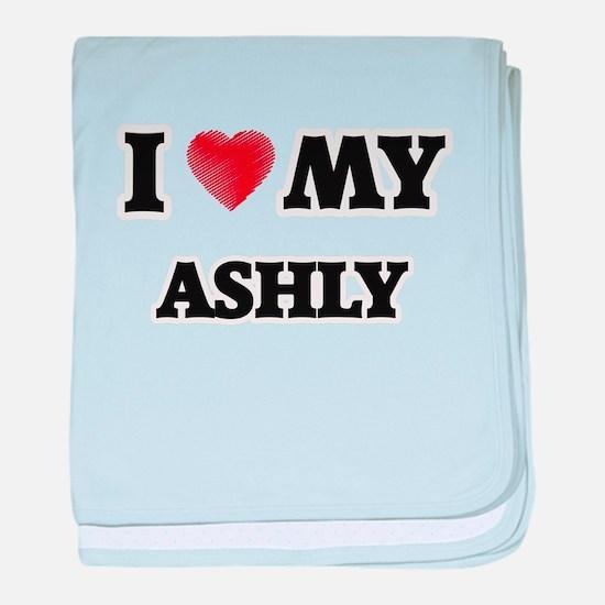 I love my Ashly baby blanket