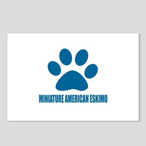 Miniature American Eskimo Postcards (Package of 8)