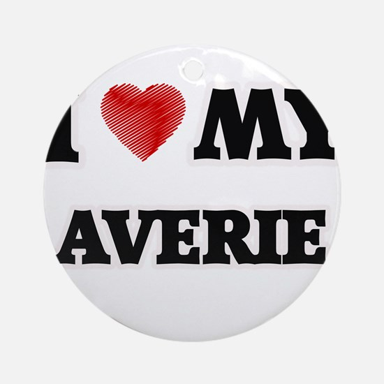 I love my Averie Round Ornament