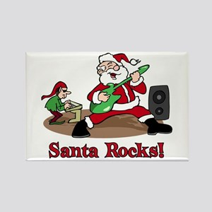 Santa Rocks Rectangle Magnet