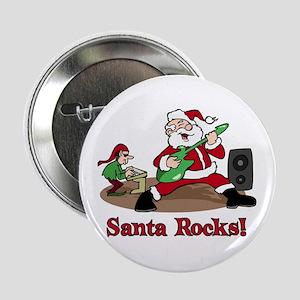 """Santa Rocks 2.25"""" Button"""