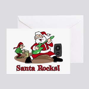 Santa Rocks Greeting Card