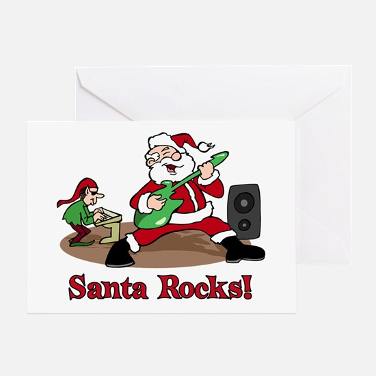 Santa Rocks Greeting Card