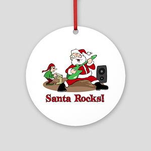 Santa Rocks Ornament (Round)