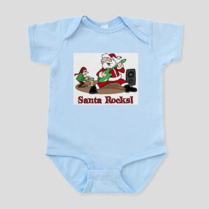 Santa Rocks Infant Bodysuit