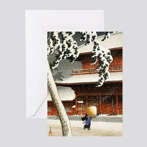 JAPANESE SNOW_VINTAGE SN Greeting Cards (Pk of 10)