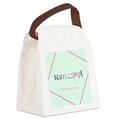 Cool People Wear Mint Pink Canvas Lunch Bag