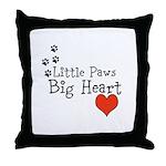 Little Paws Big Heart Throw Pillow