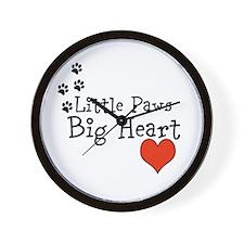 Little Paws Big Heart Wall Clock